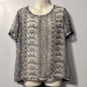 Women's H&M snake print chiffon top size 10